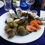 L'entrée du menu, une petite assiette de fruits de mer