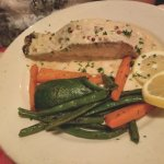 Salmon, cream pepper sauce