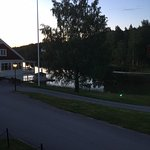 Evening view over Norra Loken and the cafe