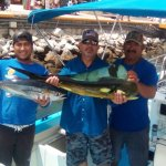 This is the largest dorado and yellow fin we caught.