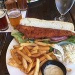 Decent walleye sandwich