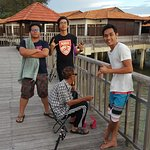 Fishing near the 'Wakaf' at the Premium water Chalet area