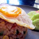 Rice with fried egg