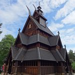 Fascinating Wood Stave Church moved to this site!