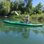 Paddling upstream on the Whitefish River