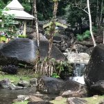 Small part of waterfall area