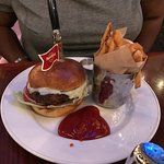 Hard Rock Cafe Cheese Burger and Fries