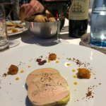 Entrée : foie gras de canard mi-cuit (Menu à 45€)