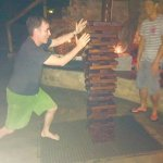 A photo I took while dominating the staff at giant jenga.