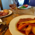 Succulent Devon beef roast and a delightful fish pie