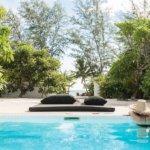 Pool with lush views