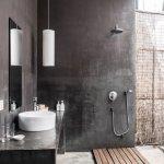 Modern bathroom design, partially outdoors