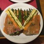 Asparagus, brie and salmon