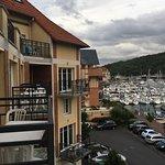 Vu de l'appart et résidence vu du port