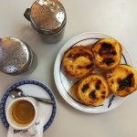 Pasteis de Belem, sugar and cinnamon