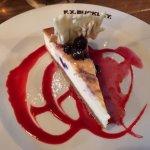 Baked New York Style Vanilla und Blueberry Cheesecake