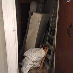 Fire exit door in Bathroom