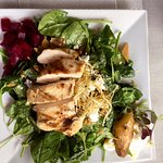 Duo of Beets Salad with Grilled Chicken