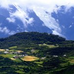 the beautiful land down the Meili snow mountain