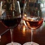 Wine at the bar.