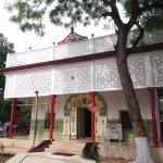The beautiful modern temple at Umananda..