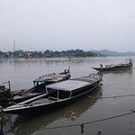 Boats anchored at the island..