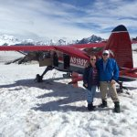 Our Ruth Glacier landing on Talkeetna Air Taxi!