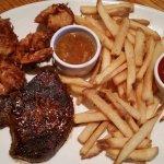 Steak/coconut shrimp