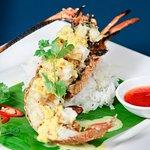 Lobster in coconut tumeric sauce