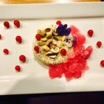 Our almond,cashew and pistachio kulfi. Topped with nuts and fresh flowers. Available lunch and d
