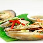 BBQ green lipped mussels.