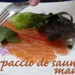 Carpaccio de saumon maison