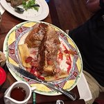 French Toast With Strawberries and Cream cheese filling