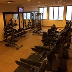Spacious and well-equipped fitness center