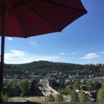 View from our table, sitting on the deck, overlooking downtown Truckee