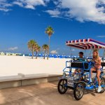 Fun Ride Rentals located below the hotel.  Paddleboards, Bikes, Segways are all available to ren