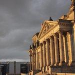 Le Bundestag au coucher de soleil