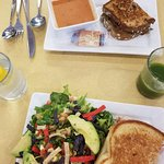 sandwich and soup or salad special--great homemade breads!