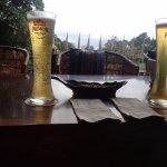 Beers overlooking the lake