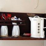 Il materiale per una tazza di caffè o te in stanza