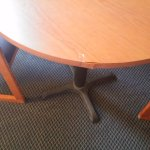 a table that needs repair