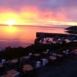 All rooms have a sea view. We observed magnificent sunsets. Attached photo is of sunrise 530am!