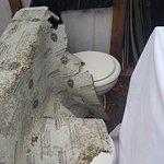 Toilets in parking lot