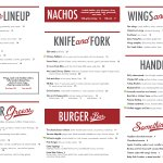 Our new menu!