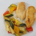 Pouletbrust mit Gemüse