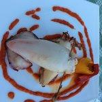 Bad photo of really yummy stuffed squid
