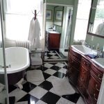 spacious bathroom in Judge Rhea suite