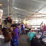 Craft stalls abound.