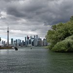 View of Toronto skyline from the island