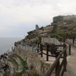 Upper edge of seating at Minack Theater